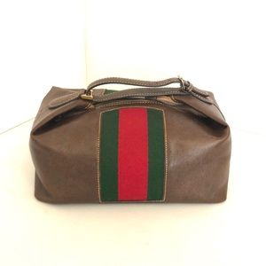 Gucci Vintage Web Cosmetic Bag